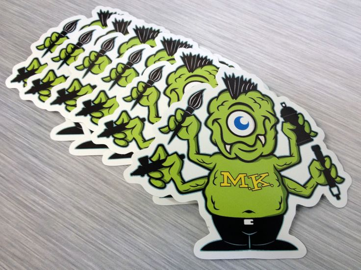 Bumper stickers die cut stickers and decals printed on outdoor vinyl full color