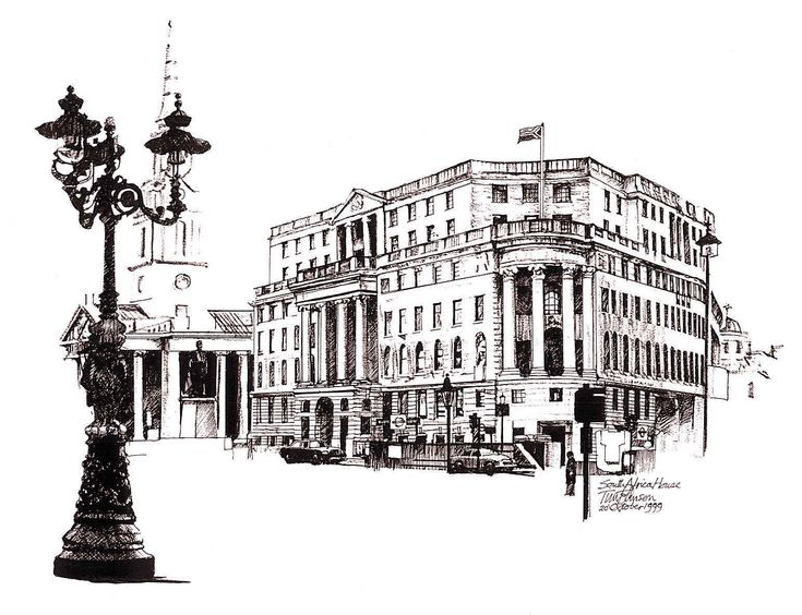 South Africa House 1999 Pen & Ink (350 x 270)