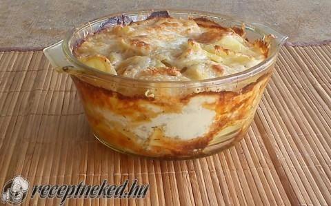 Krémes francia rakott burgonya recept fotóval