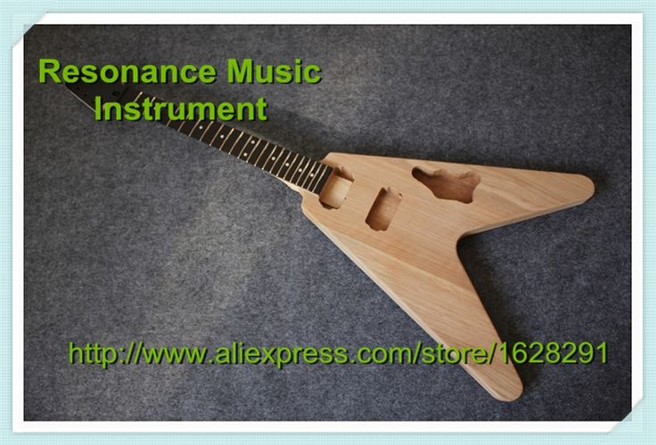 207.10$  Buy here - http://ailnu.worlditems.win/all/product.php?id=32307810966 - 100% Real Pictures Unfinished Flying V Electric Guitar Without Hardware China OEM Guitar Kit Left Handed Available
