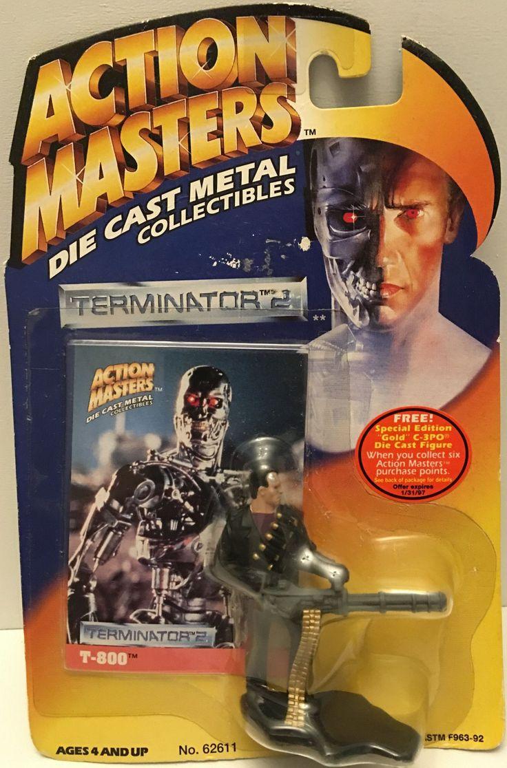 (TAS032901) - 1994 Kenner Action Masters Die-Cast Terminator 2 - T-800 Figure