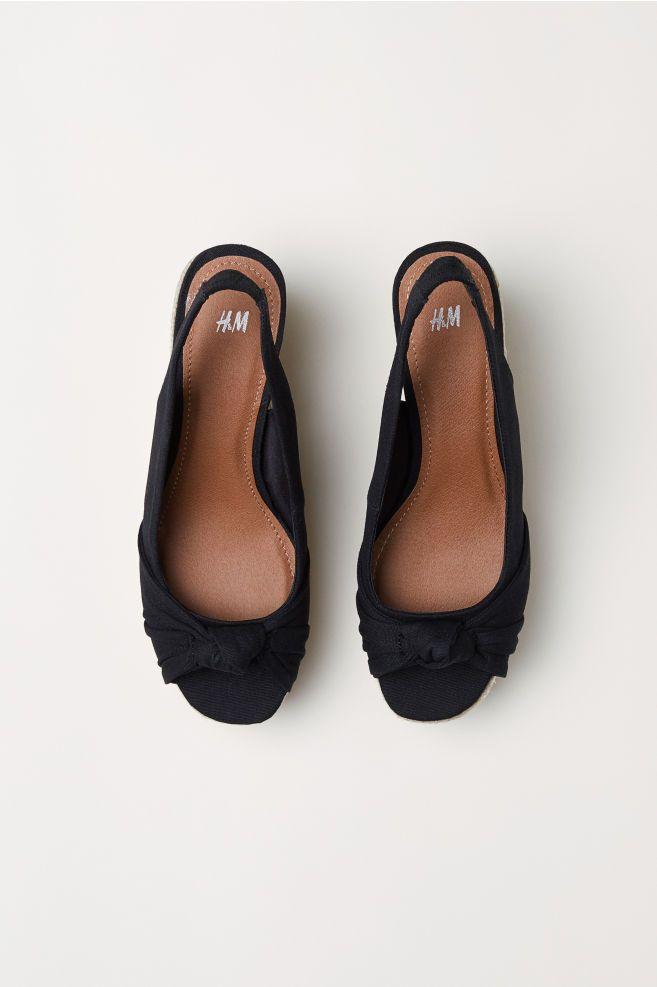 Sandaletter med kilklack - Svart - DAM  c88922d228b96