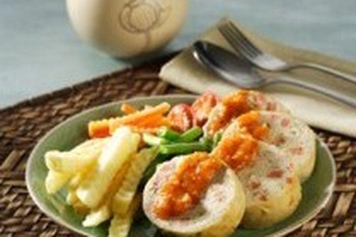 Galantin Ayam Saus Lada Hitam Makanan Resep Masakan Ayam