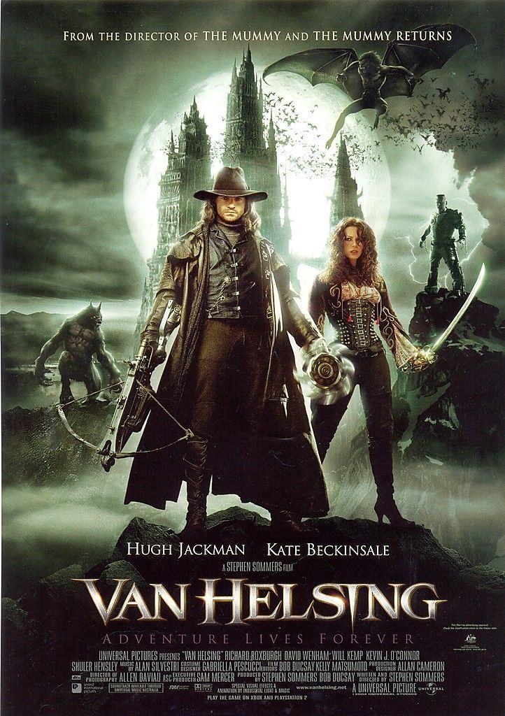 3 Aud Van Helsing Movie A4 Flyer Released May 3 2004 Hugh