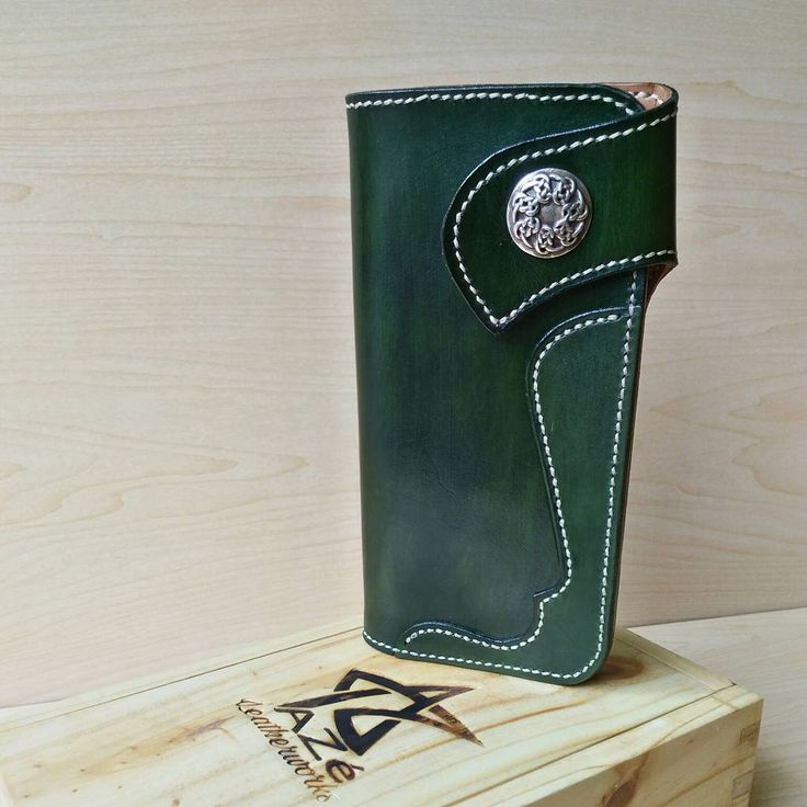 """17 Likes, 1 Comments - AZé Leatherworks (@azeleatherwork) on Instagram: """"""""BIKER LONG WALLET"""" ••• Material Descriptions : - Indonesian Vegetable Tanned Leather - Hand dyed…"""""""
