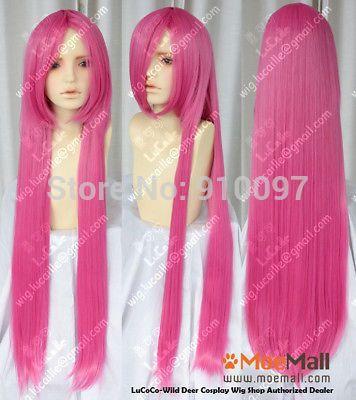 H & X2068>> Angel Beats! юи 100 см Розовый Парик Косплей