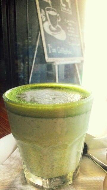 Matcha Latte at Portabella Bistro, very yummy...!!