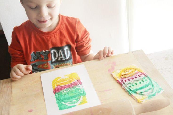 Velikonoční přáníčko - grafika po domácku - Testováno na dětech