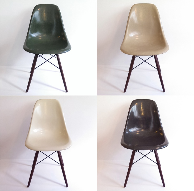 Eames DSW Herman Miller set of 4 chairs color olive green   greige    parchment  15 best   Eames chairs   images on Pinterest   Eames chairs  . Eames Dsw Chair Green. Home Design Ideas