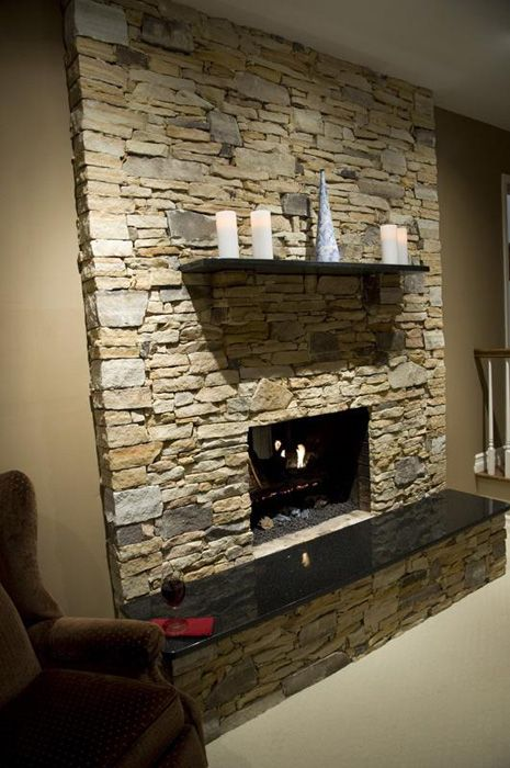 Stone Veneer Fireplace West Mt Field Amp Ledge Pinnacle
