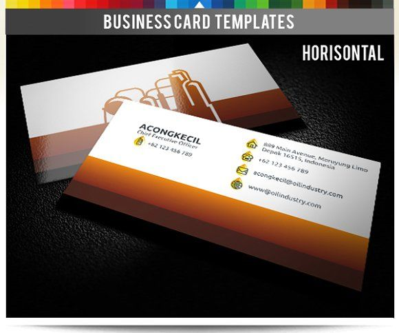 Premium Business Card - Oil Industry Templates **Premium Business Card – Oil Industry** **Discription** : Sided Business Card Front and Rear, 2 by Acongraphic