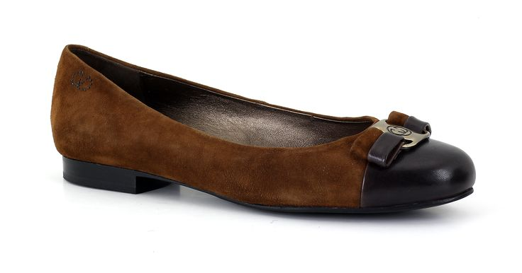 "AW14 - Gerry Weber ballerina pumps - leather & suede with buckle trim make these a ""must have"" for the season! McEwens of Perth"