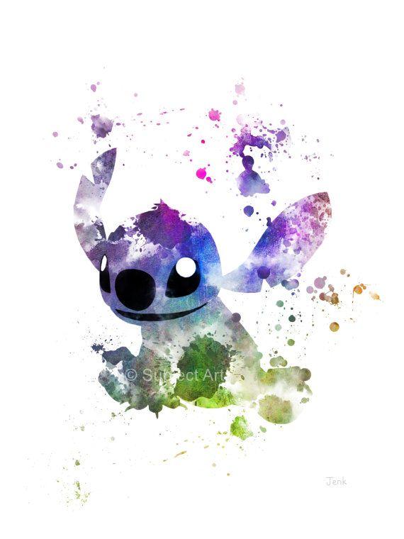 Coser la ilustración arte PRINT, Lilo y Stitch, Disney, arte de la pared, Home Decor, vivero