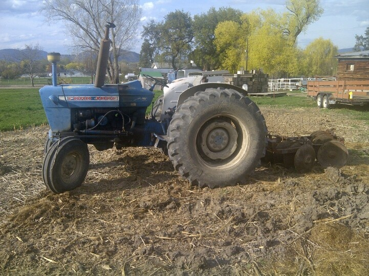 Time to disc the corn field at McMillan Farms.