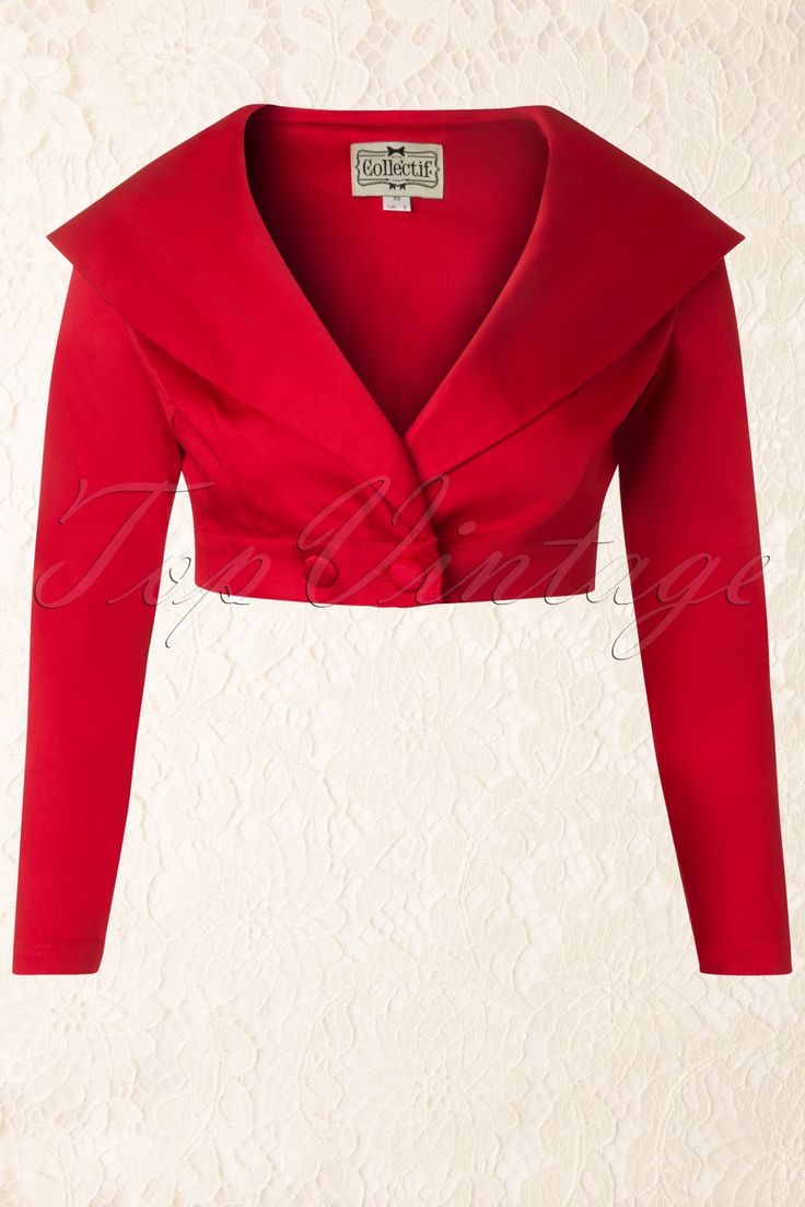 17 Best Mi Boleros Images On Pinterest Sewing Patterns Gina Magenta Blazer 50s Gilda Cropped Jacket In Red