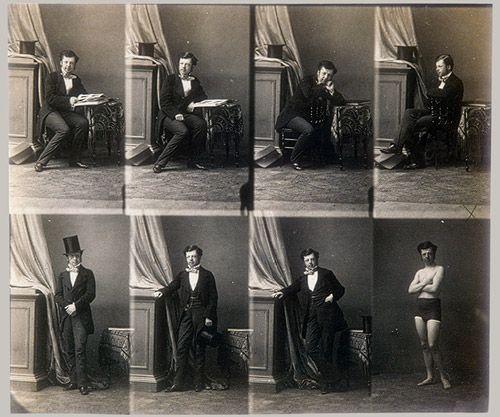 Camara Disderi- Primeros retratos en serie que eran utilizados como invitaciones de visita aproximadamente en los años 20.