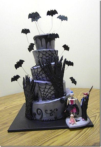 bolos do dia das bruxas morcegos