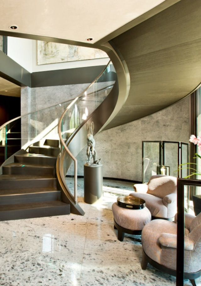 1000 ideas about luxury staircase on pinterest spiral for Luxury staircases
