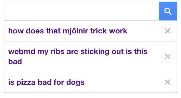 Barton's Google search history