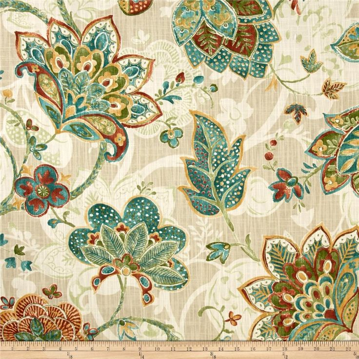 Richloom Saybrook Tuscan from @fabricdotcom  Screen printed on laundered cotton…