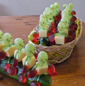Kindertraktaties: Komkommertreintje