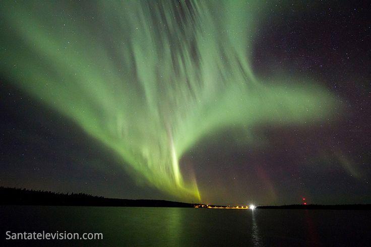 Polarlichter in Rovaniemi in Lappland in Finnland
