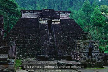 Candi Sukuh (Sukuh Temple), Mount Lawu, Surakarta, Solo, Central Java, Indonesia.