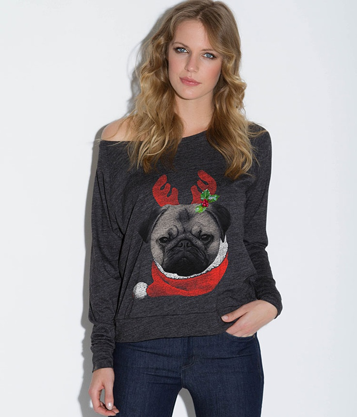 Pugly Christmas Sweater - T-shirt - Women - Teeology