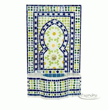 Fuente árabe floral