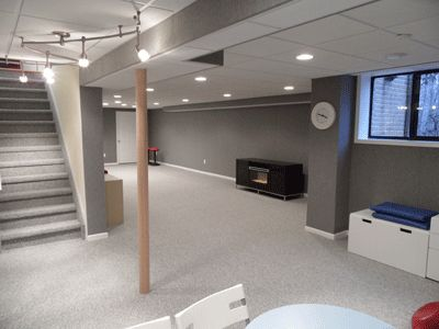 Basement Finishing Idea Similar To Our Layout For The