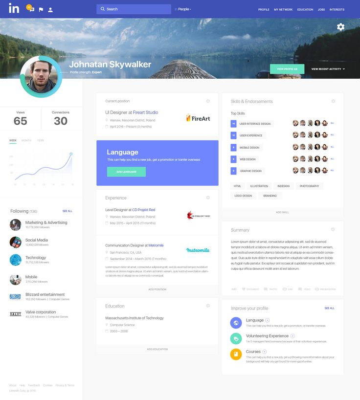 Dribbble - linkedin_profile.png by Barbara Morrigan