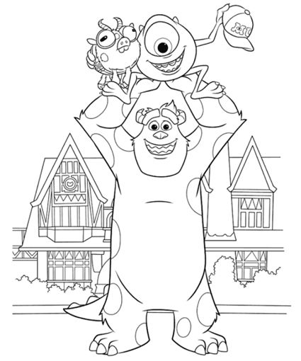 Monsters University Coloring Pages - JPGs saved. X