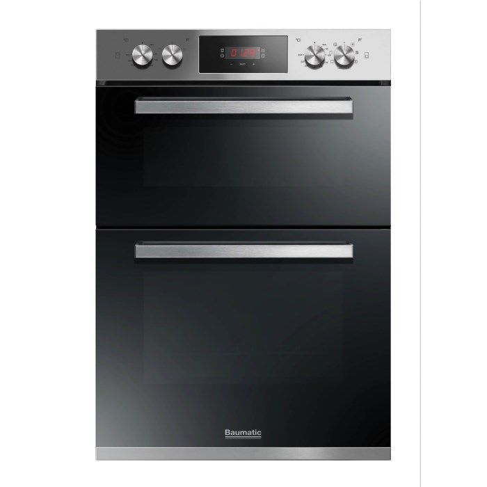 Baumatic BODM984X Multifunction Electric Built-in Double Oven Stainless Steel