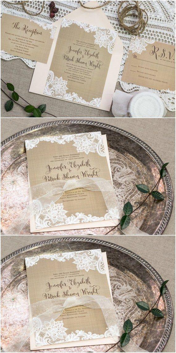 Rustic Vintage Burlap and Lace Corners Wedding