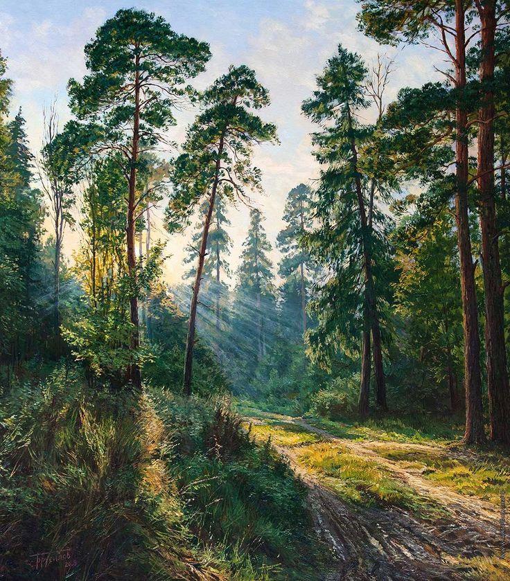 этапе лес живопись картинки речист это знаешь