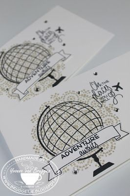 Yvonne is Stampin' & Scrapping: Stampin' Up! Travel card with Marrocan Nights & Places You'll Go #stampinup