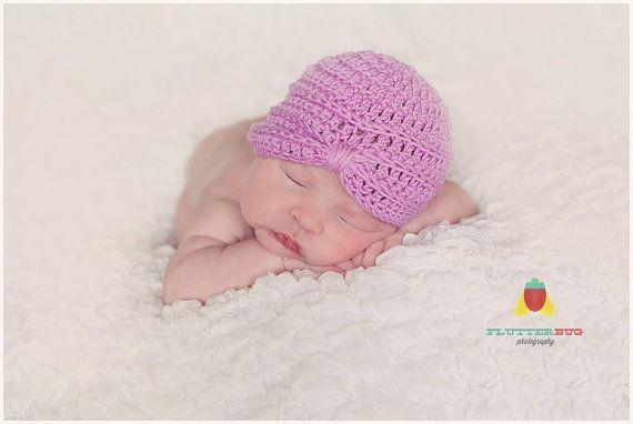 Newborn photo prop hat/Crochet Turban hat by LaBottegaDiViviana, €12.00