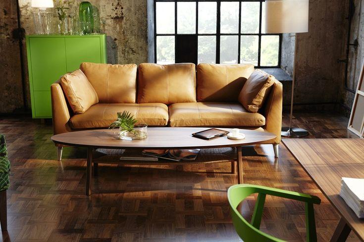 canap en cuir camel ikea stockholm le blog d co pinterest d co salon canap s en cuir et. Black Bedroom Furniture Sets. Home Design Ideas