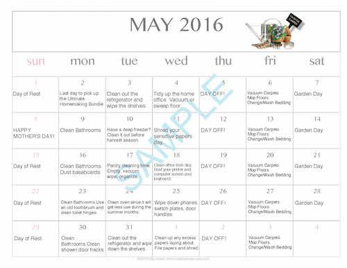 May-Cleaning-Calendar-2016