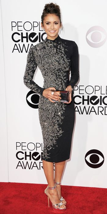 People's Choice Awards 2014: What Everyone Wore - Nina Dobrev from #InStyle