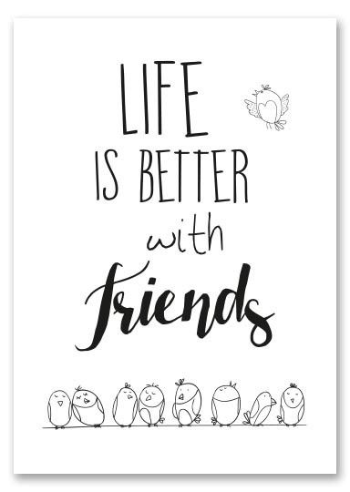 ZW014 Life is better with friends