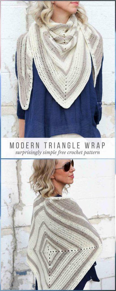 Crochet Triangle Wrap Free Pattern