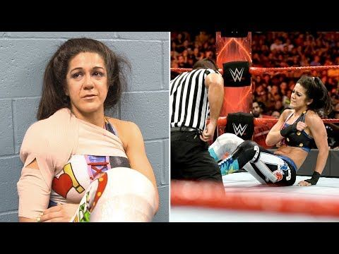 WWE Superstars react to Bayley's shoulder injury - YouTube