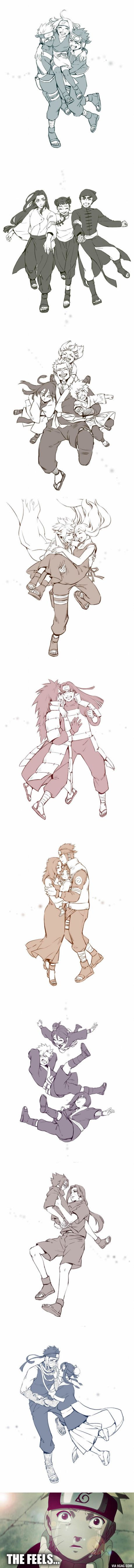 Fan Artist reimagines happy ending for tragic Naruto characters (By Black Marlboro) Más