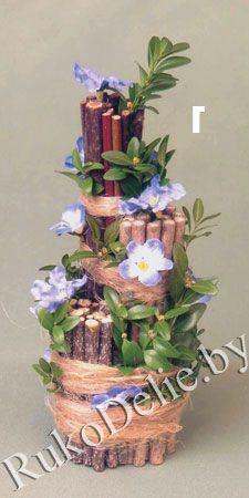 Настольные флористические композиции ''К светлому празднику''