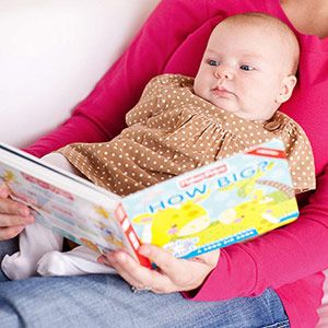 Activities to Enhance Baby's Cognitive Development: 0-3 Months: Read to Your Baby (via Parents.com)