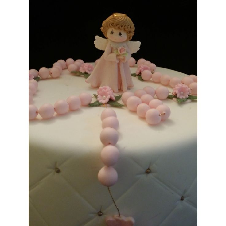 Unique Baby Girl Baptism Cake Topper, Girls Baptism Cake Topper, Vintage Look Baby Girl for Baptism Cake , Rosary For Cake, Christening Cake Topper, Rosary Cake Topper, Antique Look Baptism