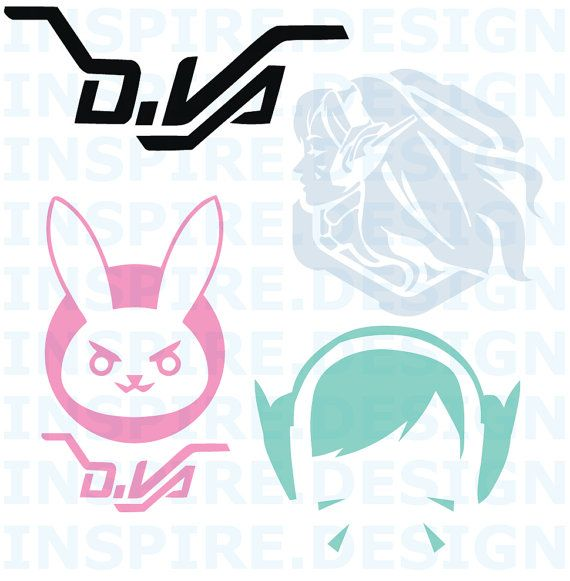 Overwatch D.Va Vinyl Decals. Play to WIN! D.Va Decal made to order  Check them out