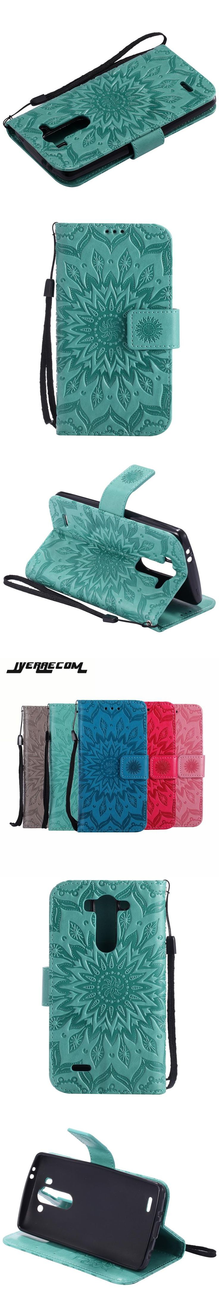 Coque Sunflower Flip Wallet Case For LG G3 S Beat mini G3S PU Leather+Silicon Cover For LG G3 vigor D722 d724 Case Phone