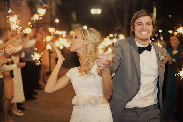 sweetest sparkler exit ever / photo by Alixann Loosle